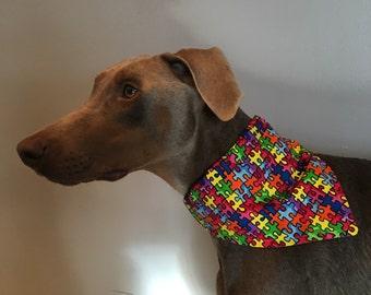 Med/Large Autism Awareness Dog Bandana