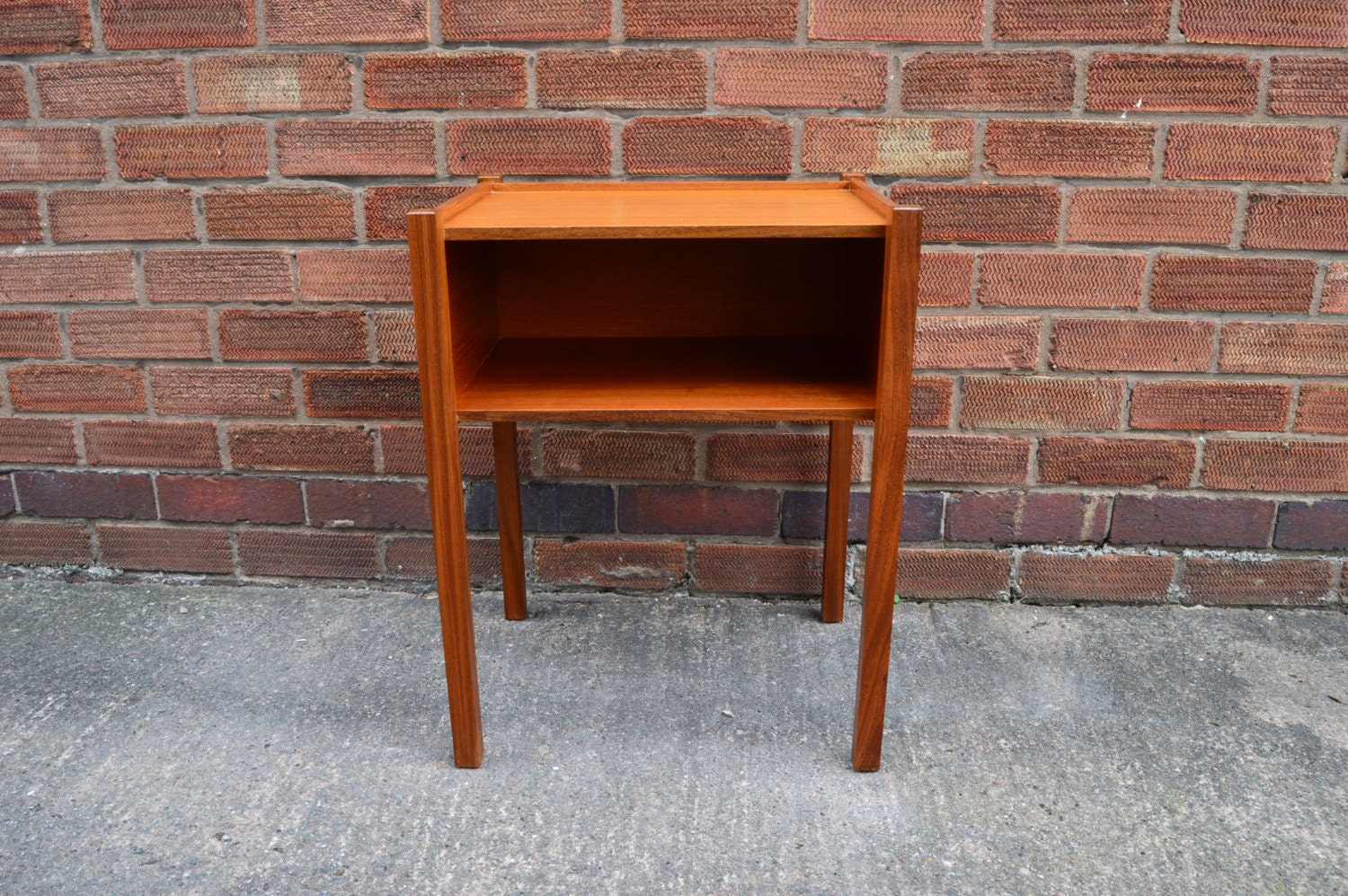 Retro vintage mid century two tier table nightstand - Table haute console ...