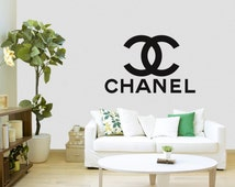 Chanel decal sticker Sizes between 3 - 12 inch, different sizes and colors available, logo wall art vinyl, MacBook sticker, Laptop sticker.