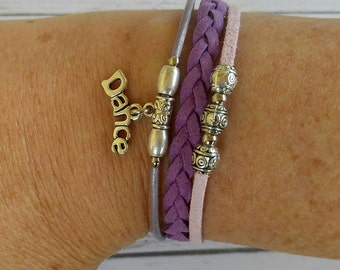 Girls Dance Bracelet// Friendship Bracelet// Team Colors// Dance Mom// Dance Gift// Choose  Colors & Sports Charm