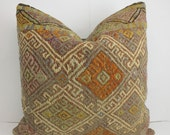 Ethnic Pillow Tribal Pillows Designer Cushion Floor Cushion Cover Floor Knit Pillow Cover Home Decor Accessories Kilim Fabric Pillow