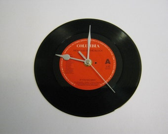 "New Kids On The Block - ""If You Go Away"" Record Wall Clock"