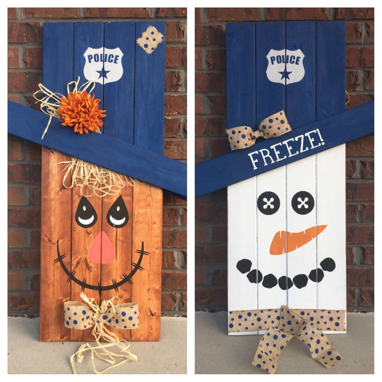 52 Vivacious Summer Porch Decor Ideas: Reversible Scarecrow Snowman Pallet Sign Porch Decor Porch
