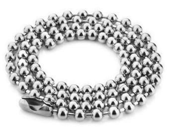 4mm ball stainless steel chain for trailers (66/71 / 76cm)