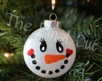 Gingerbread girl and snowman ornament