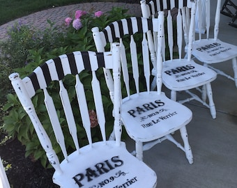 4 dining chairs kitchen chairs accent chairs shabby chic black and white