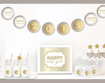 Gold & Glitter New Years Eve Party Decoration Kit