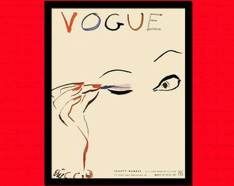 Printed on Washi Japanese Paper Vintage Vogue Cover Print 1933   Vintage Fashion Illustration Fashion Print Vogue Poster Gift Idea  bp