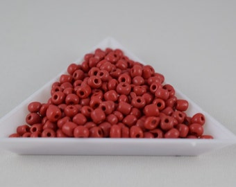 Seed Beads Glass Beads Red Size 6.0 Sold by 1/4, 1/2, 3/4, 1 LB/ Pound Size 6/0 are 3mm, 4mm Beads