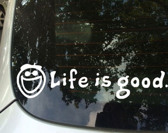 FUN STICKERS, smiley life is good, car decals