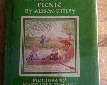 Alison Uttley - Water- rats picnic - 1950s children's book - little grey rabbit - nursery book - vintage animal prints