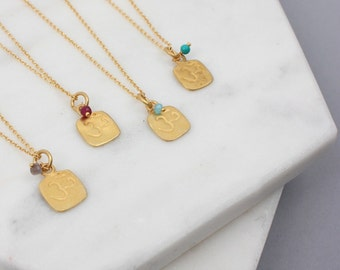 Om Gold Charm Necklace