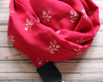 Swedish red camera scarf strap