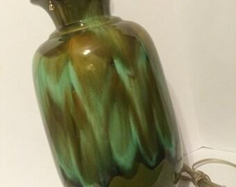 AWESOME Mid Century Drip Glaze Ceramic Lamp