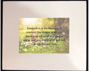 FRAMED CREATIVITY QUOTE - Imagination 1