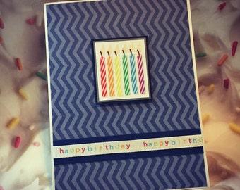 "Handmade ""Happy Birthday"" Greeting Card; It's your birthday Greeting Card; Happy birthday to you Greeting Card"