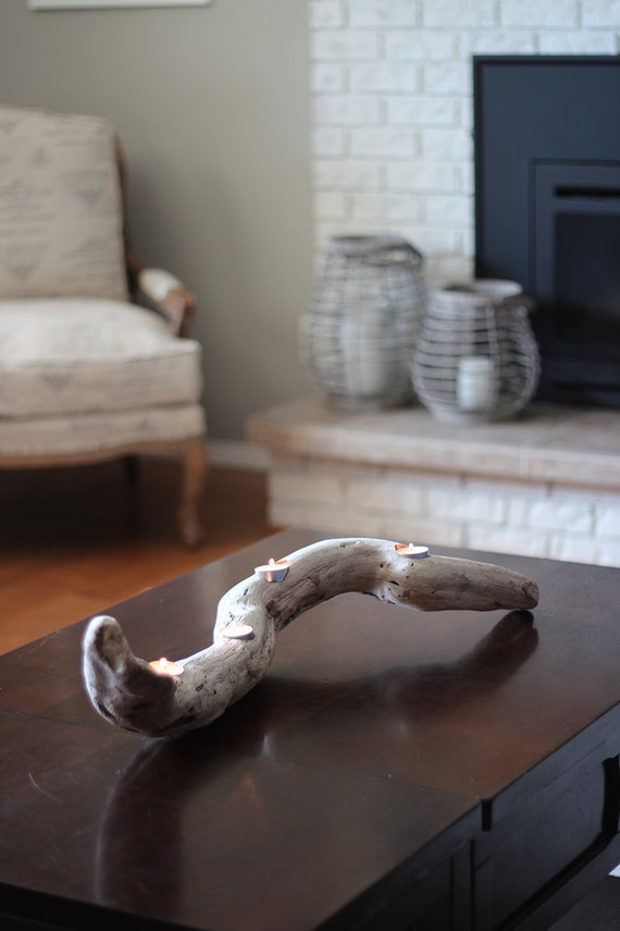 Driftwood Candle Holder Driftwood Home Decor Wood Candle