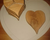 Reclaimed Wooden Heart Coasters