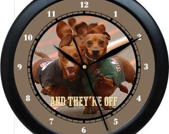 "Dachshunds 10"" Personalized Wall Clock Gift"