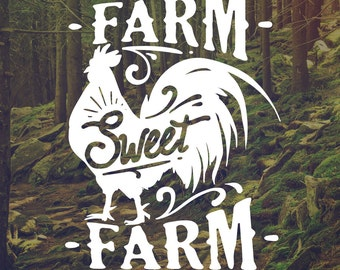 unique farm decals related items etsy