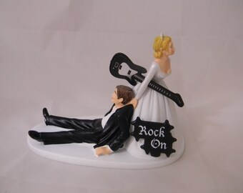 wedding cake topper man with guitar wedding reception ceremony grease shop car amp truck 26352