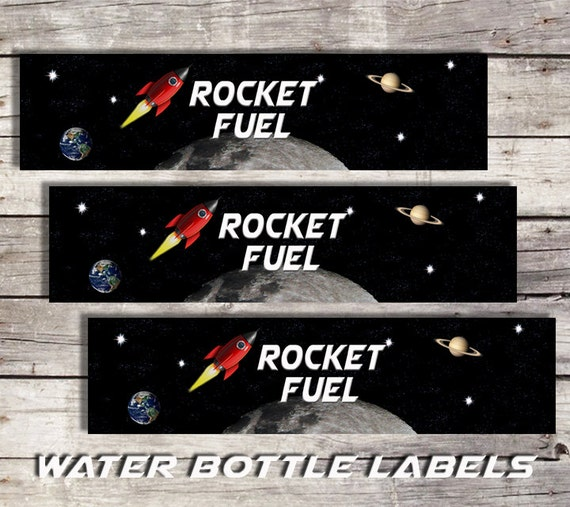 Space Water Bottle Labels Printable Water By Sarahfinndesign