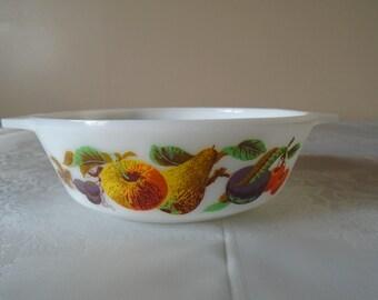 small pyrex dish fruit  design