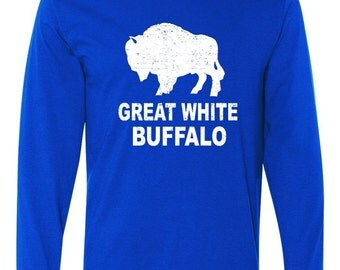 Great White Buffalo Long Sleeve T-Shirt
