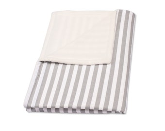 KraftKids baby blanket - white-gray stripes