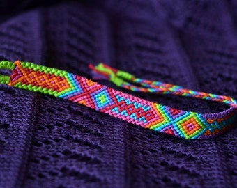 Custom Woven Bright Friendship Bracelet  - Made To Order -