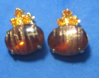VINTAGE Antique Ear Rings Bead with Jewels