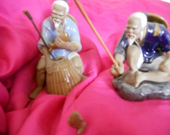 Old Chinese Shiwan Mudmen Set/2