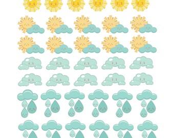 PRINTABLE Spring Weather Sticker Set