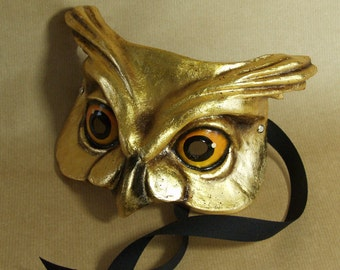 GOLD OWL MASK