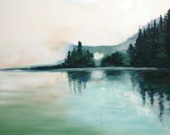 Art Print - Stave Lake - 8.5x11