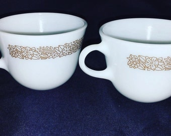 Two Pyrex Woodland Mugs