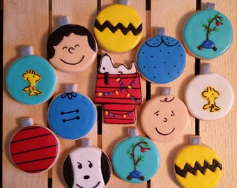 Charlie Brown and the Peanuts Gang!  Celebrate the 50th Anniversary with cookies!