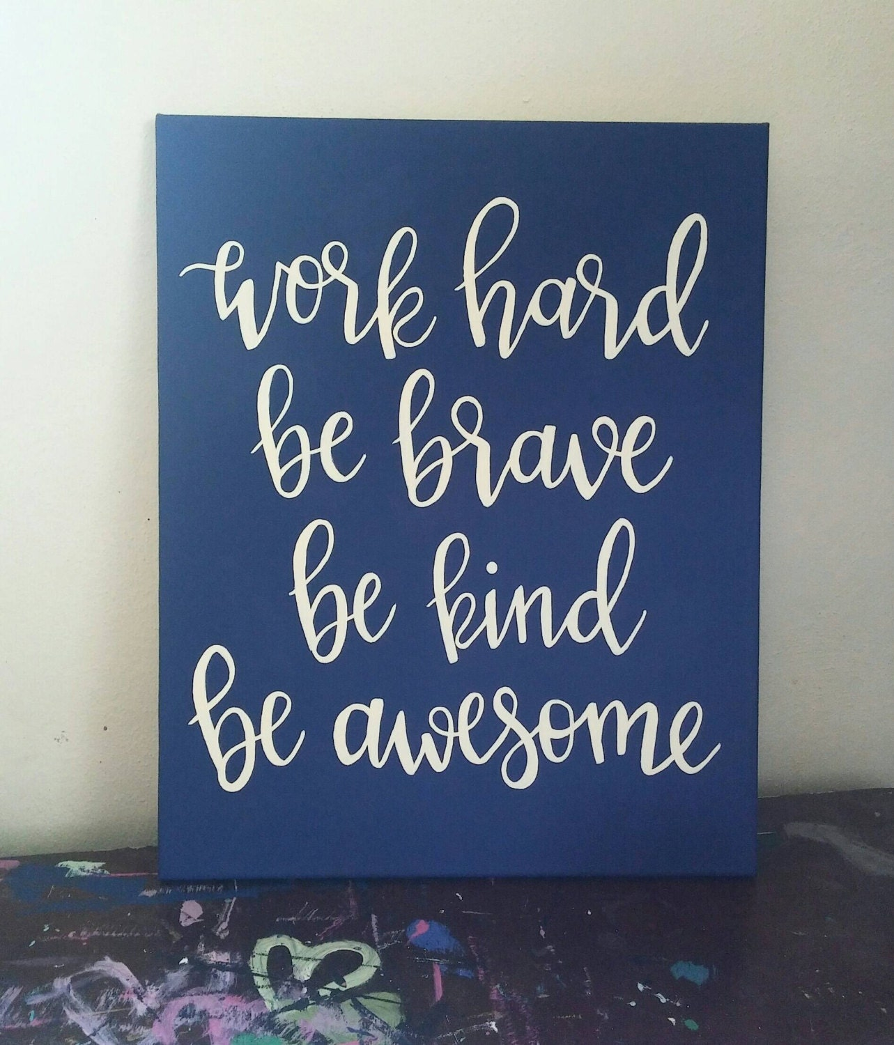 motivational wall art canvas quote sign by picklespaintingco