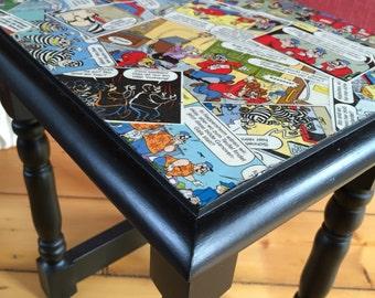 Comic furniture - upcycling - Beagle - stool - side table