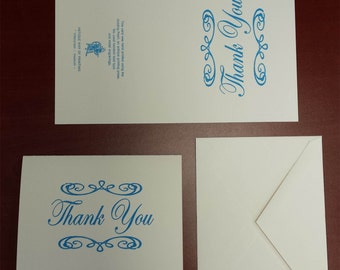 5pc Thank You Cards with envelopes