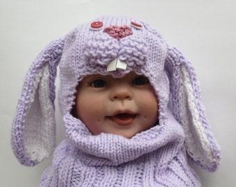 Baby Bunny Hat Balaclava Kids Winter Hat Childrens Hat Animal Hat Bunny Balaclava