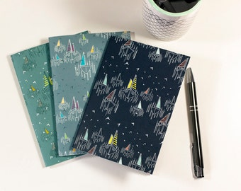 A6 Notebooks - Sail Boats