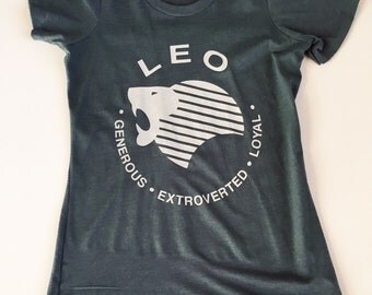 LEO - What's Your Sign Tee in 2 Colors slim-fit Indigo Blue or Sand