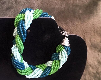 "Item #4: ""Braided Beads"" (Green)"