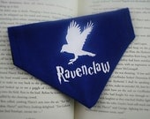 Ravenclaw reversible dog bandana|Hogwarts House Crest Series|Harry Potter custom geeky gifts for dogs