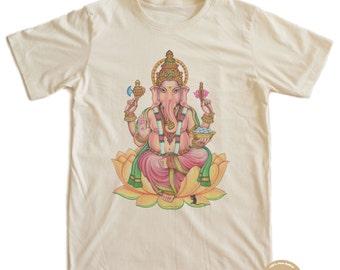 Ganesha Asian Buddha Punk T-shirt 100% Organic Cotton