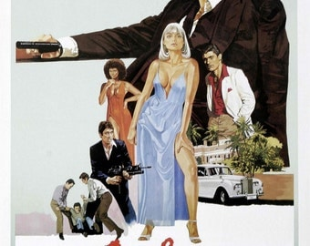 Scarface alternate painted US movie poster print