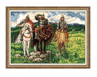 Gobelin Tapestry Kit Bogatirs 1:1 Petit Point