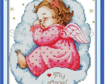 Cross Stitch Unprinted Kit Asleep Baby Girl