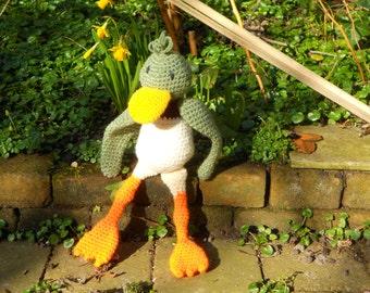 Large stuffed duck